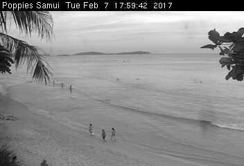 View of Chaweng Beach on Koh Samui with with web cam